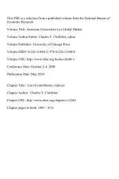 PDF (85 K) - National Bureau of Economic Research