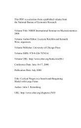 PDF (559 K) - National Bureau of Economic Research