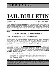 Jail Bulletin - Nebraska Commission on Law Enforcement and ...