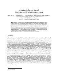A method of cross-lingual consumer health information retrieval