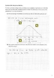 Descriptive Statistics Solutions - NCCA
