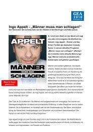 "Ingo Appelt - ""Männer muss man schlagen!"""