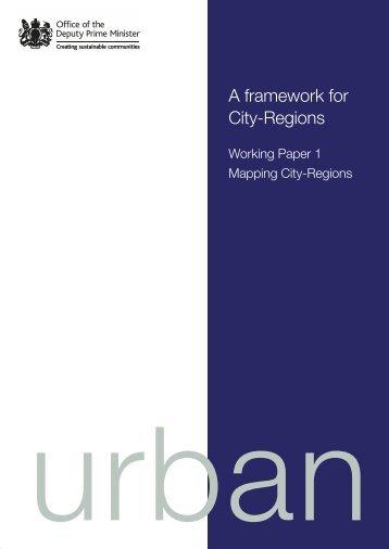 A framework for City-Regions - Newcastle University
