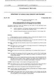 Egg Regulations 16 September 2011 - Department of Agriculture ...