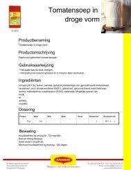 Tomatensoep in droge vorm - Nestlé Professional