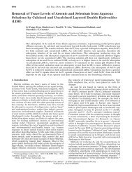 Removal of Trace Levels of Arsenic and Selenium from Aqueous ...