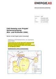 FAQ-Katalog zum Projekt Stromversorgung Alm- und ... - Netz GmbH