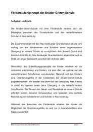 Förderstufenkonzept der Brüder-Grimm-Schule - Neu-Isenburg