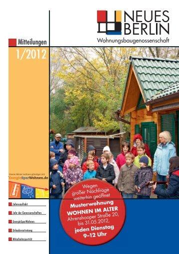 1/2012 - Wohnungsbaugenossenschaft Neues Berlin