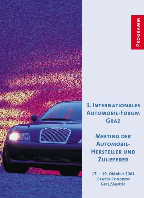 3. Internationales Automobil-Forum Graz ... - Neue Verpackung