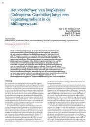 Het voorkomen van loopkevers - Nederlandse Entomologische ...