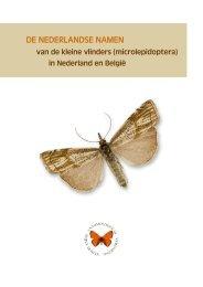 de nederlandse namen - Nederlandse Entomologische Vereniging