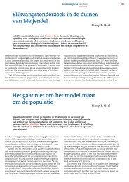 Blikvangstonderzoek in de duinen van Meijendel Het gaat niet om ...
