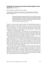 Clinal variation in longevity between populations of