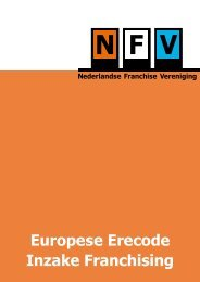 Europese Erecode Inzake Franchising - Nederlandse Franchise ...