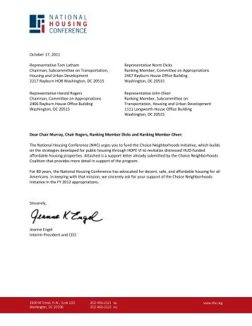 NHC Sends Letter to the House Supporting Funding for Choice ...