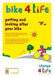 Bike4Life - getting and looking after your bike booklet - NHS Choices