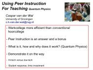 Using Peer Instruction - Nikhef