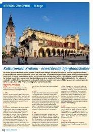 Kulturperlen Krakow - NILLES REJSER A/S