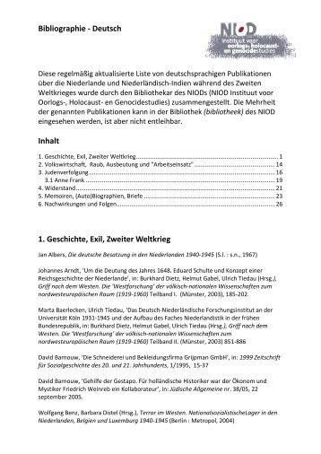 Bibliographie - Deutsch