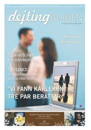 """vi fann kärleken"""" tre par berättar - Publikationer Provisa Sverige AB ..."""