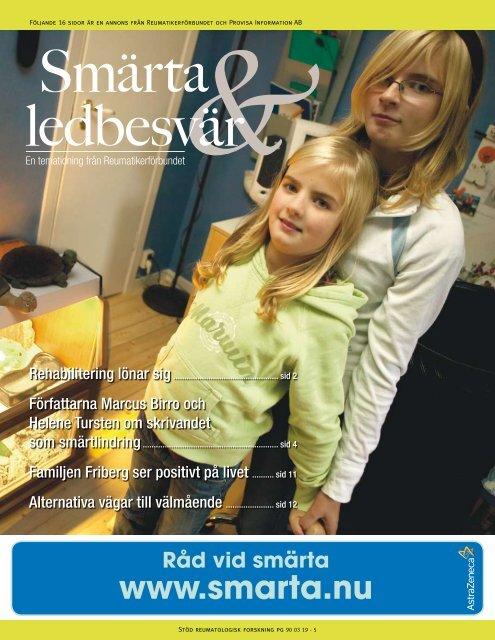 Råd vid smärta www.smarta.nu - Publikationer Provisa Sverige AB ...