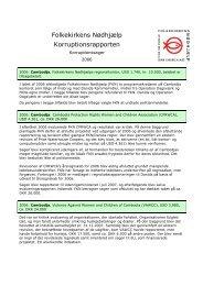 Korruptionsrapporten 2006.pdf - Folkekirkens Nødhjælp