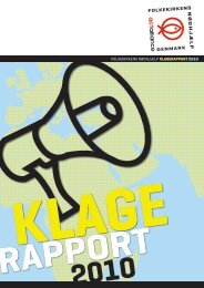 folkekirkens nødhjælp klagerapport 2010