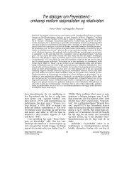 omkamp mellom rasjonalisten og relativisten - Nofima