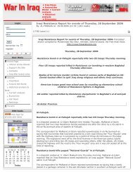 Iraqi Resistance Report for events of Thursday, 28 September 2006