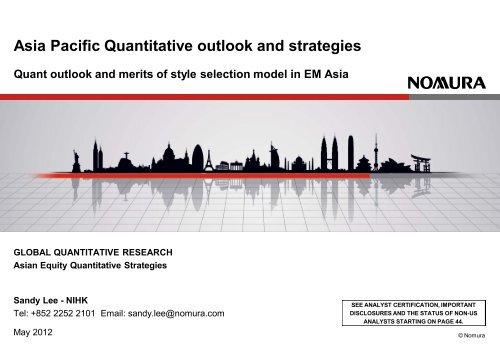 Asian Quantitative Strategy - Nomura