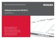 zum 30.09.2010 - Nomura Asset Management Deutschland KAG mbH