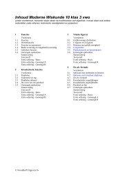 inhoudsopgave van klas 3 vwo - Noordhoff Uitgevers