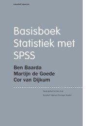 Basisboek Statistiek met SPSS - Noordhoff Uitgevers