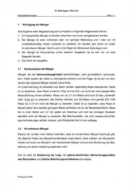 1. Ein festgestellte - Norbert Bogusch