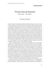Norske barn på Internett - Nordicom