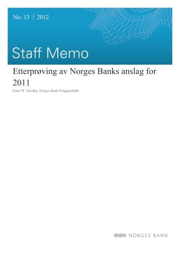 Staff Memo 13/2012 - Norges Bank