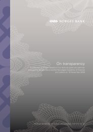 On transparency - Norges Bank