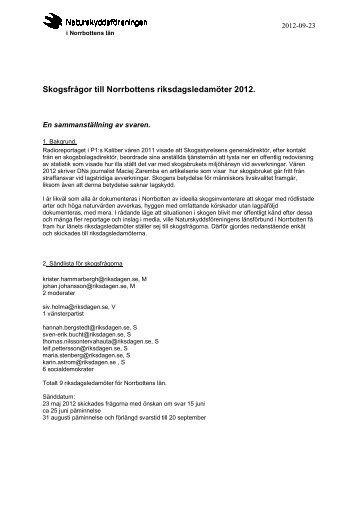 Sammanställning av skogsfrågor och svar (pdf-format)
