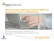 Mobile Enterprise Application Plattform (MEAP) als strategischer ...