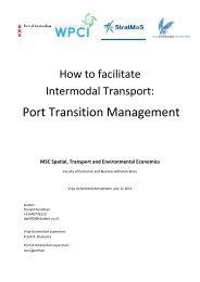 WPC- Port Transition Management - Interreg IVB North Sea Region ...