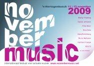 festival brochure - November Music