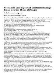 Gesetzliche Grundlagen für Stiftungen - Novertis
