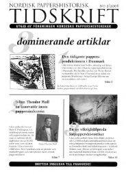 ilominerande artiklar - Föreningen Nordiska Pappershistoriker