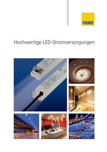 Datenblatt zu Friwo LED-Stromversorgungen - Novitronic AG