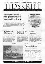 i fem generationer - Föreningen Nordiska Pappershistoriker