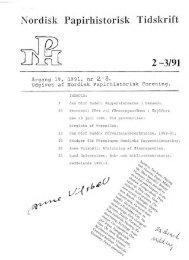 Nordisk Papirhistorisk Tidskrift 2 -3/91 - Föreningen Nordiska ...