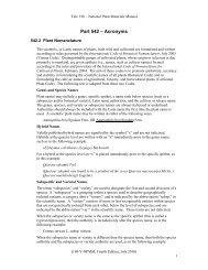 190 Part 542 Plant Nomenclature