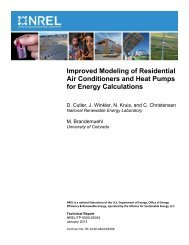 Improved Modeling of Residential Air Conditioners and Heat ... - NREL