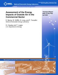 Assessment of the Energy Impacts of Outside Air in the ... - NREL